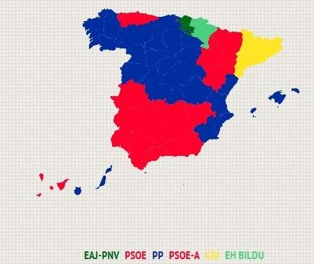 El lastre de Rajoy hunde al PP, a pesar de ser el partido más votado