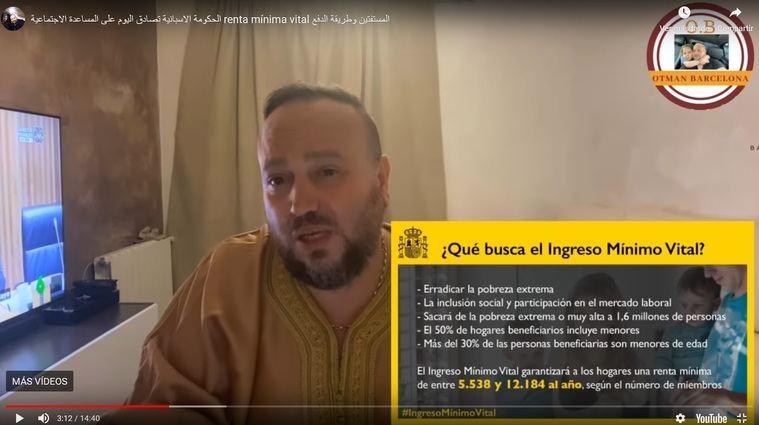 Decenas de vídeos explican en árabe como cobrar la paga ofreccida por Pablo Iglesias