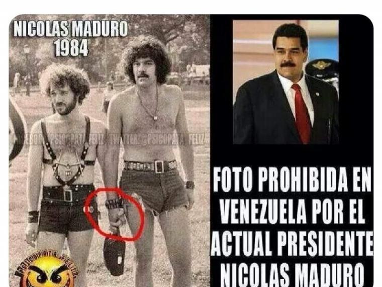 La foto de Nicolás Maduro en 1984 que está prohibida en Venezuela