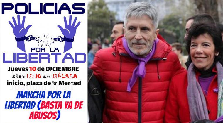 Jueves 10 de noviembre. 17,00 horas en Málaga, concentración de Policías por la Libertad