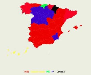 El PP pierde su hegemonía municipal en favor de PSOE y Podemos