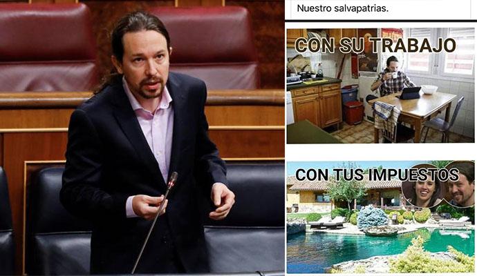 Pablo Iglesias vuelve a presumir de jardín y de llegar holgadamente a final de mes
