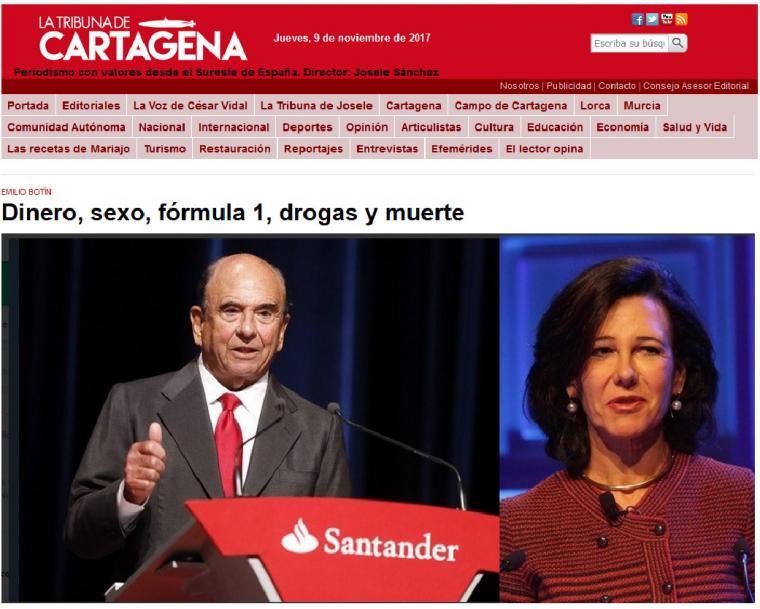 Emilio Botín, asesinado por el narcotraficante Jesús Samper, amante de su hija Ana Patricia