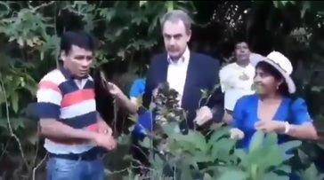Cuando Zapatero visitaba las plantaciones de coca en Bolivia